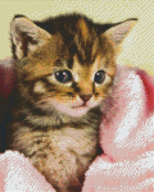 Kitten In Blanket Nine [9] Baseplate PixelHobby Mini-mosaic Art Kits