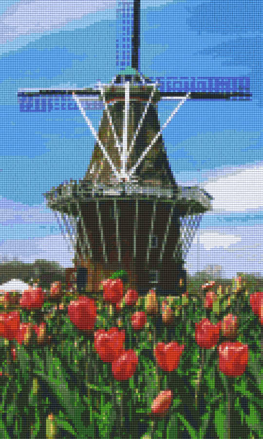 Holland Twelve [12] Baseplate PixelHobby Mini-mosaic Art Kits