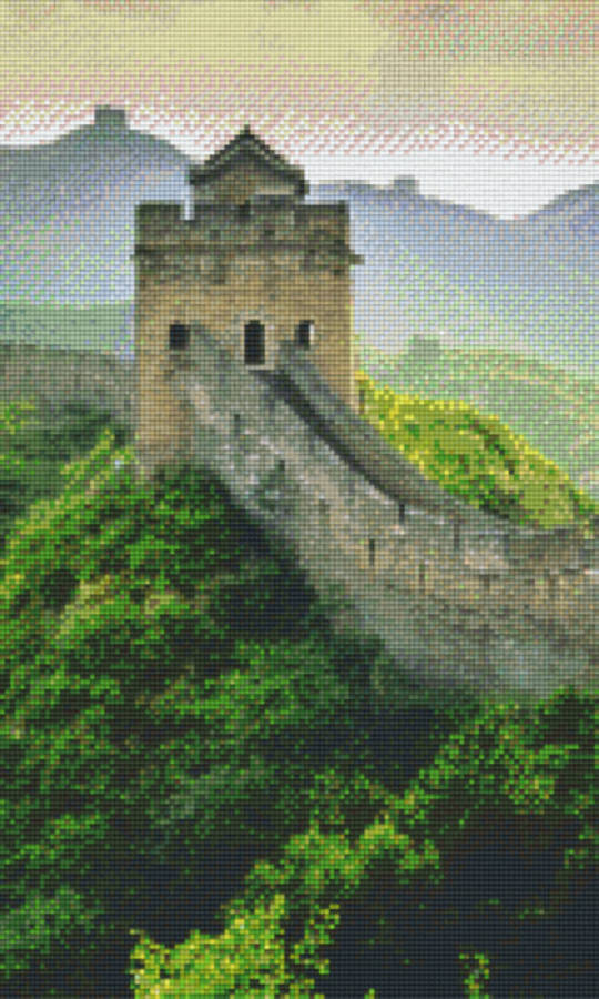 Chinese Wall Twelve [12] Baseplate PixelHobby Mini-mosaic Art Kits