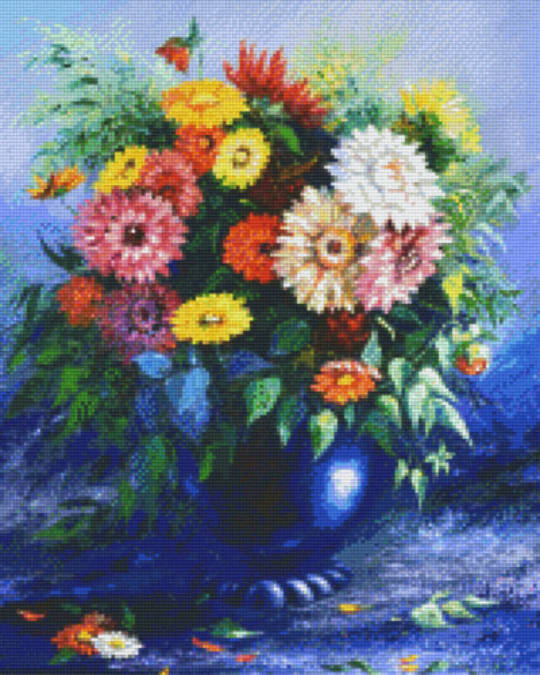 Vase With Flowers Sixteen [16] Baseplate PixelHobby Mini- Mosaic Art Kits