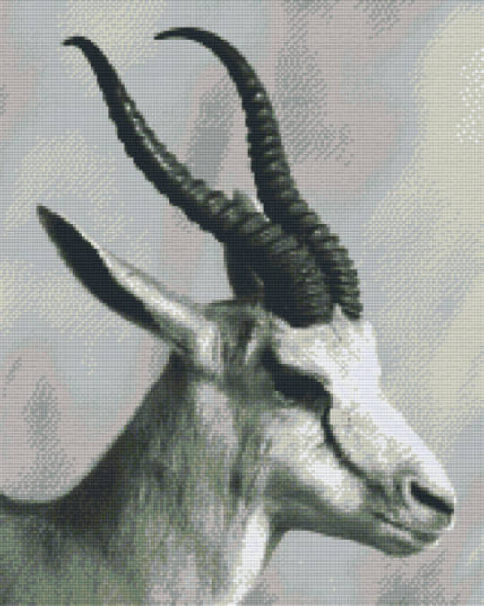 Black And White Goat Sixteen [16] Baseplate PixelHobby Mini-mosaic Art Kits