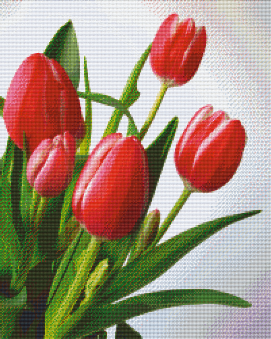 Tulips 2 Twenty-Five [25] Baseplate PixelHobby Mini-mosaic Art Kits