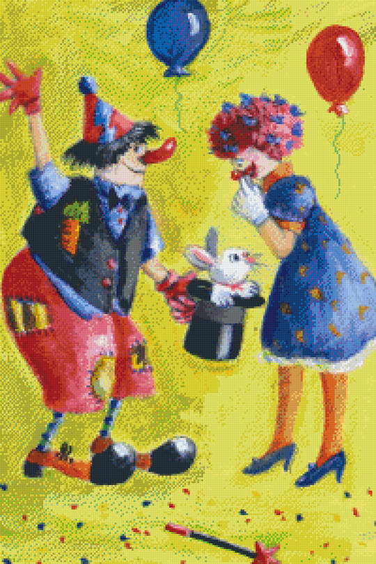Clown's Party Thirty [30] Baseplate PixelHobby Mini-mosaic Art Kits