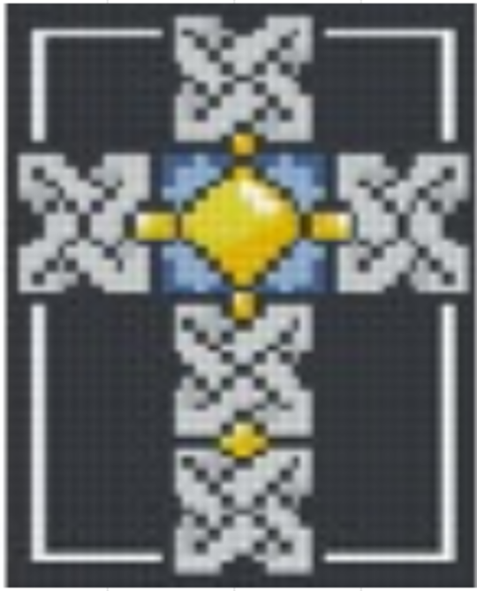 Celtic Cross - One 1 Baseplate PixelHobby Mini-mosaic Art Kit