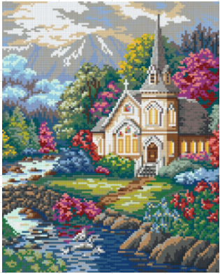 Church 9 Baseplate PixelHobby Mini Mosaic Art Kit