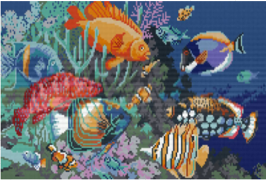 Coral Reef - 12 Baseplate PixelHobby Mini-mosaic Art Kit