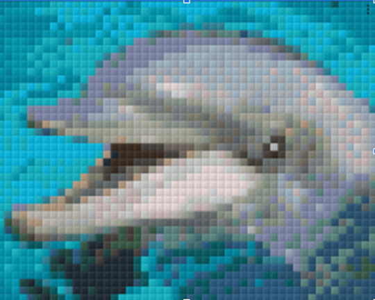 Dolphin Laughing - 1 Baseplate PixelHobby Mini-mosaic Kit
