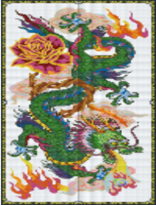 Dragon Lord - 40 Baseplate PixelHobby Mini-mosaic Art Kit