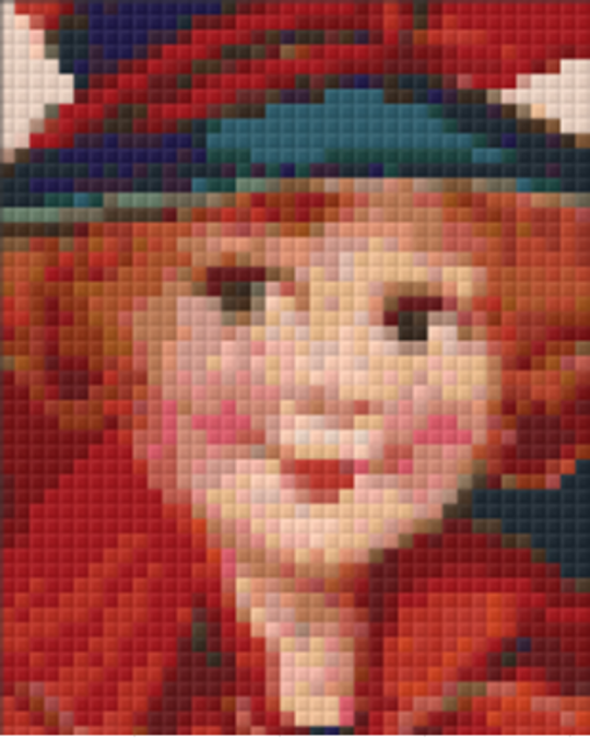 Girl In Red - 1 Baseplate PixelHobby Mini-mosaic Kit