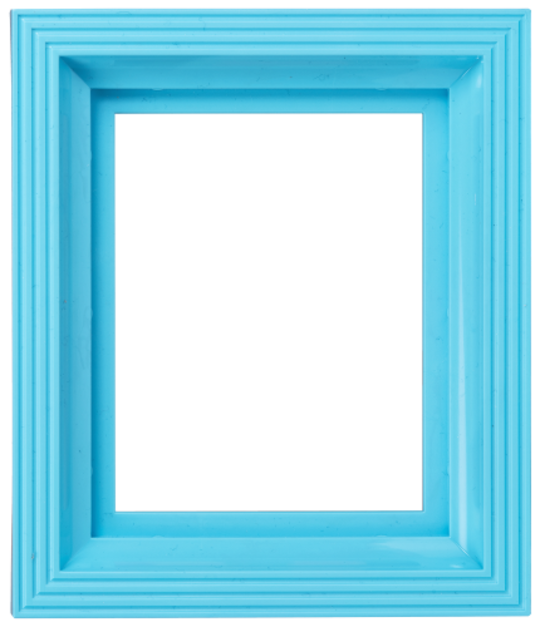 Plastic Frame For Single Baseplate Light Blue