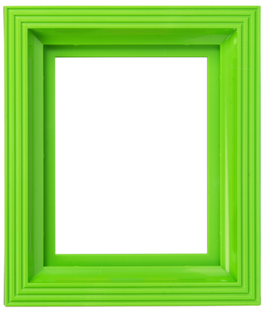 Plastic Frame For Single Baseplate Lime Green