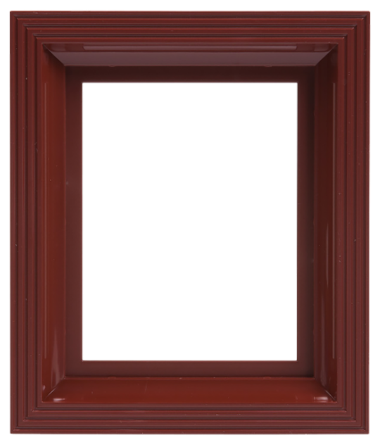 Plastic Frame For Single Baseplate Dark Brown [Mahogany]