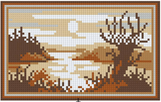 Soft Brown Lake Two [2] Baseplate PixelHobby Mini-mosaic Art Kit
