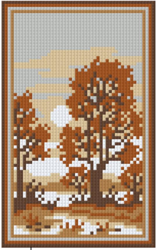 Soft Brown River Two [2] Baseplate PixelHobby Mini-mosaic Art Kit