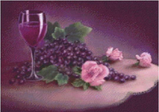 Wine & Roses - 16 Baseplate PixelHobby Mini-mosaic Art Kit