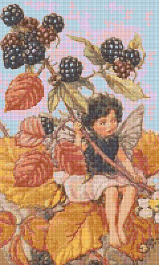 Blackberry Fairy Twelve [12] Baseplate PixelHobby Mini-mosaic Art Kit