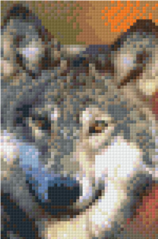 Grey Wolf 9 Baseplate PixelHobby Mini Mosaic Art Kit
