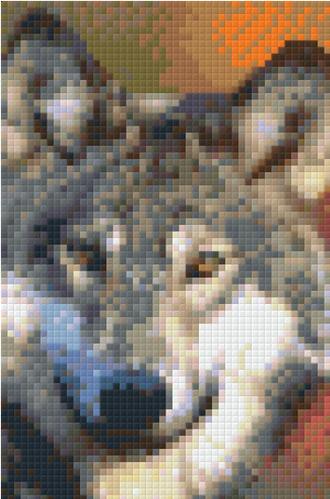 Grey Wolf 9 Baseplate PixelHobby Mini Mosaic Art Kit