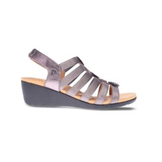 Revere Women's Bari Floral Wedge Sandal Standard (B) Width