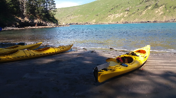 Sea-kayaking at Pohatu marine reserve