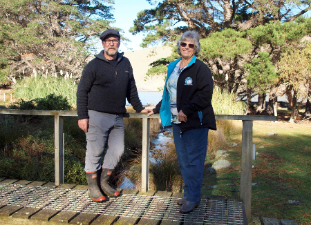 Shireen and Francis Helps - penguin conservationists