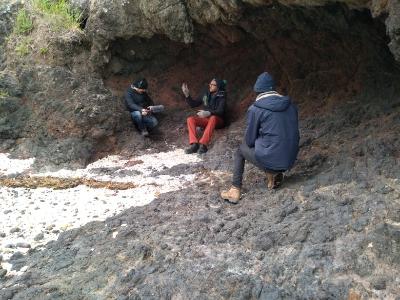 Greeting and stories at Rapaki marae