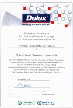 Dulux Certification Dural Duratec 2016