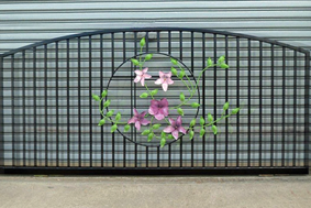 Flower gate powder coated