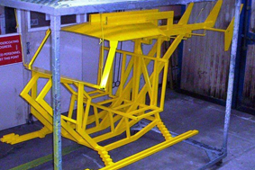Helicopter powder coated
