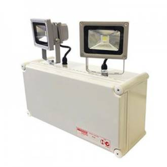 BARDIC PREMIUM 2x10W LED W/P Emergency Twinspot c/w NiCd