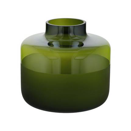 Moss Shadows Glass Vase in Green 18.5cm