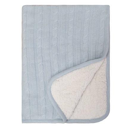 Sherpa Baby Blanket - Blue