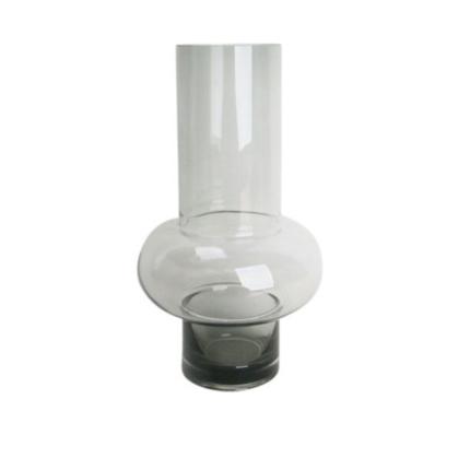 Single Ridged Vase - Smoke