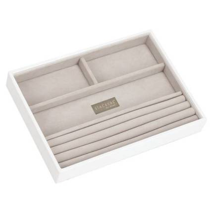 Classic Jewellery Box 4 Section - Taupe