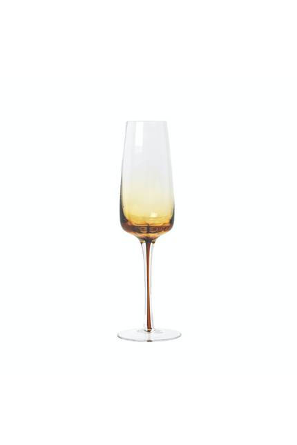 Broste Amber Champagne Glass - Set of 4