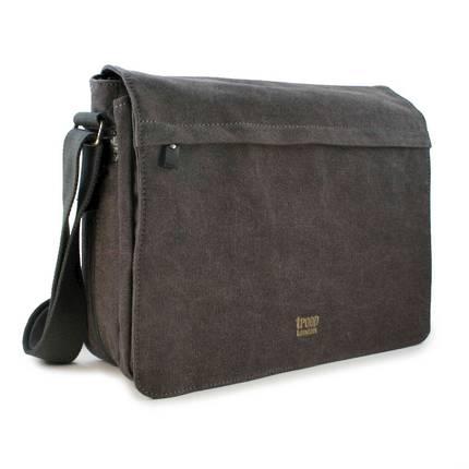 Classic Flap Front Messenger Bag - Black