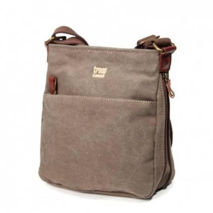 Classic Zip Top Shoulder Bag - Brown