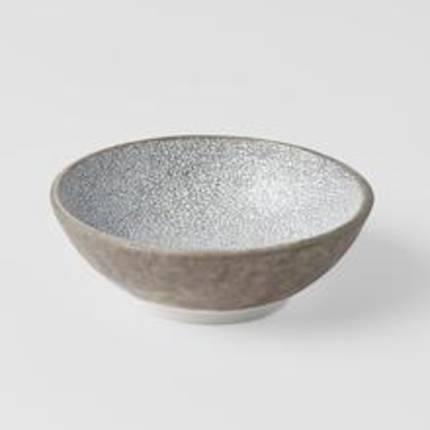 Crazed Grey Shallow Small Bowl