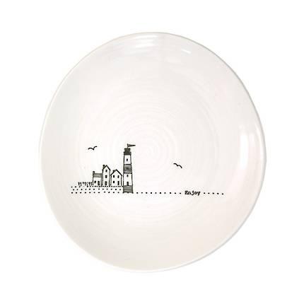 Wobbly Trinket Plate - Enjoy