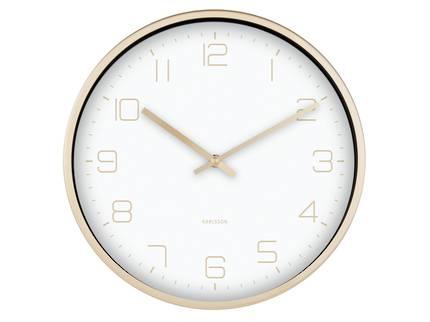 Karlsson Gold Elegance Wall Clock in White