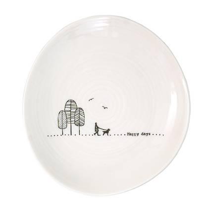 Wobbly Trinket Plate - Happy Days