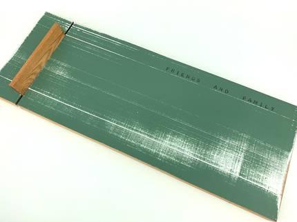 Large Rimu Cheese Board with Knife - Dark Green