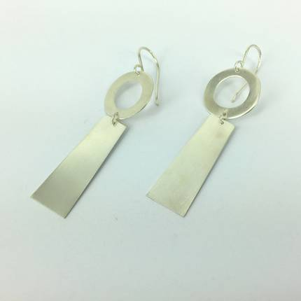 Rooby Silver Earrings