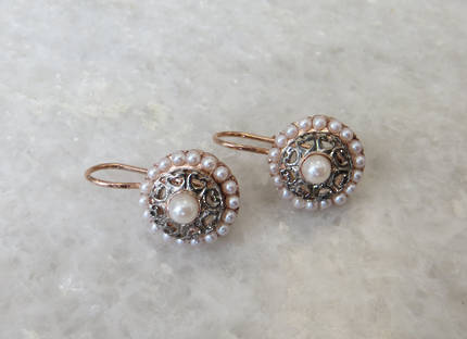 Pearl Round Earrings