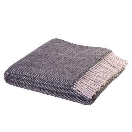 Weave Lerwick Throw - Charcoal