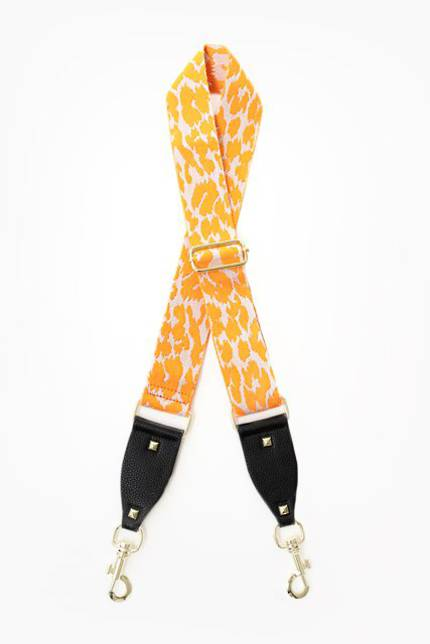 Bag Strap - Orange Leopard