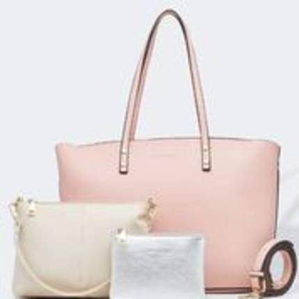 Riley Trio Bag - Pale Pink