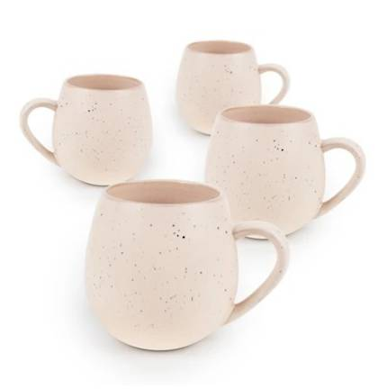 Hug Me Mugs 4 Pack - Speckled Pink