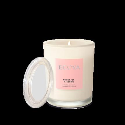 ECOYA Candle in Metro Jar - Sweet Pea & Jasmine