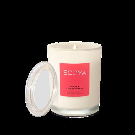 ECOYA Candle in Metro Jar - Guava & Lychee Sorbet